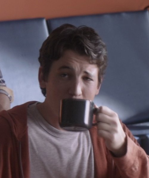 Miles Teller with Amazon Java Mug in That Awkward Moment