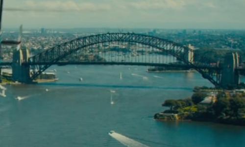 Unknown Actor with Sydney Harbour Bridge Sydney, Australia in Mechanic: Resurrection
