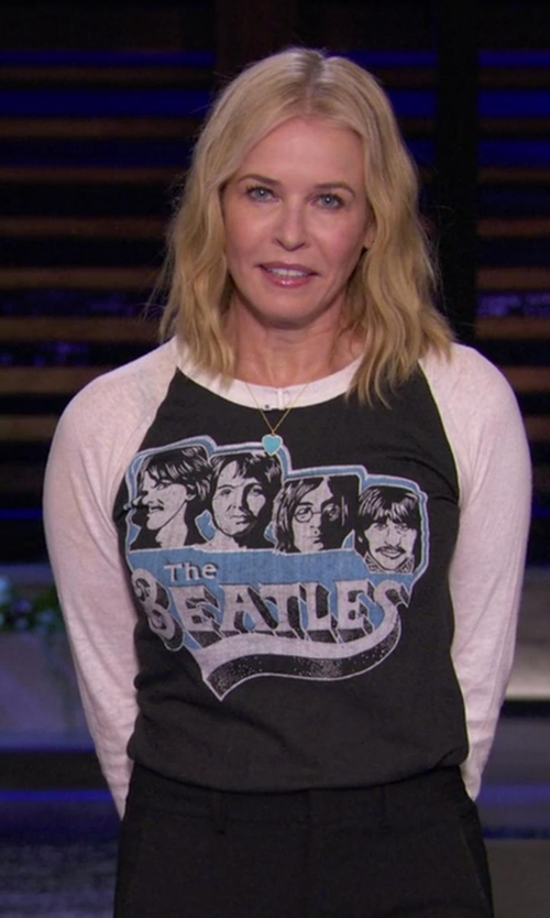 Chelsea Handler with Jennifer Meyer Diamond Turquoise Inlay Heart Pendant Necklace in Chelsea