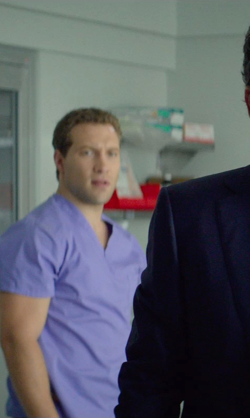 Jai Courtney with Dickies Men's V-Neck Scrub Top in Terminator: Genisys