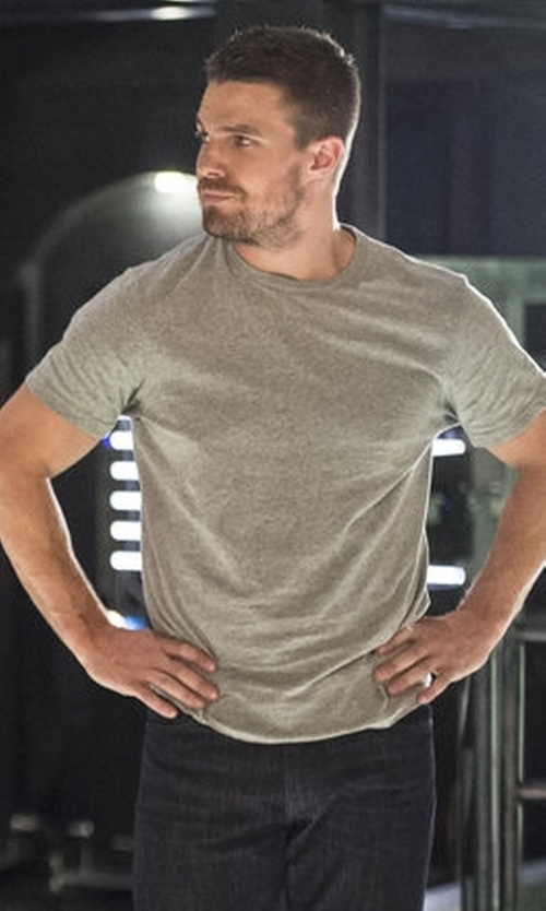 Stephen Amell with Our Legacy Men's Bat T-Shirt in Arrow