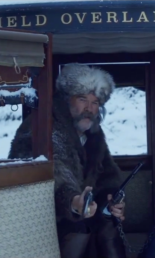 Kurt Russell with Pleaser Maverick Thigh Boots in The Hateful Eight