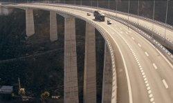 Unknown Actor with Cuesta da Silva Viaduct Gran Canaria Island, Spain in Fast & Furious 6