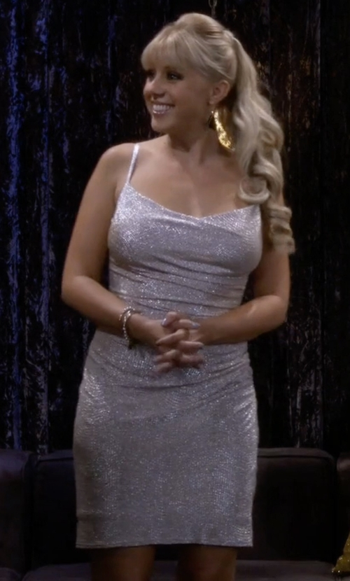 Jodie Sweetin with Laundry by Shelli Segal Metallic Knit Dress in Fuller House