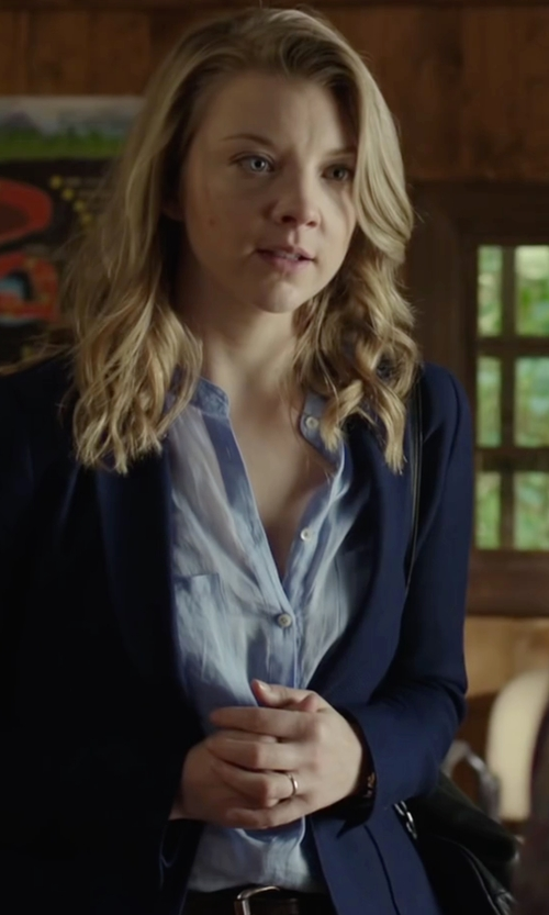 Natalie Dormer with H&M Linen Blouse in The Forest