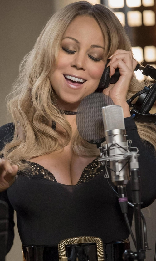 Mariah Carey with Wolford Lisbon Bodysuit in Empire