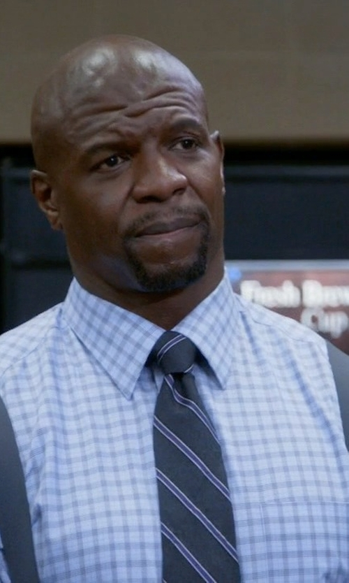Terry Crews with Bloomingdale's Windowpane Check Dress Shirt in Brooklyn Nine-Nine