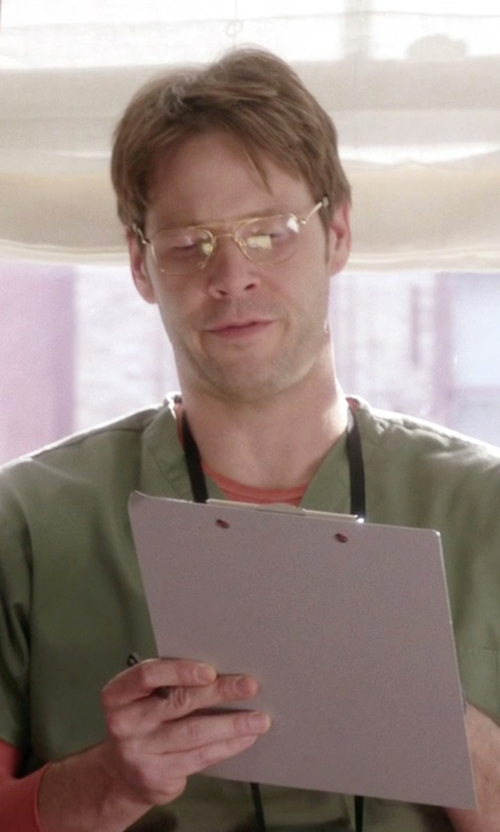 Ike Barinholtz with Cutler and Gross Palladium-Plated Aviator Optical Glasses in The Mindy Project