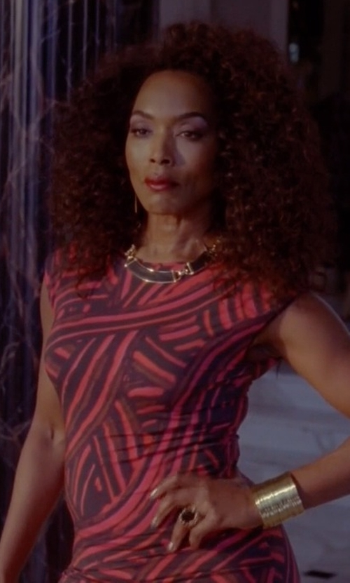 Angela Bassett with Chetta B Beaded Jersey Sheath Dress in American Horror Story