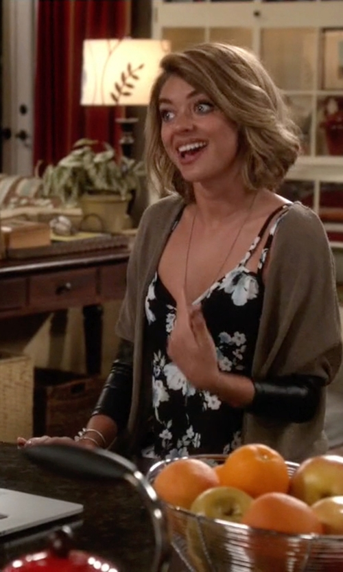 Sarah Hyland with Band of Gypsies Double Strap Cami Top in Modern Family