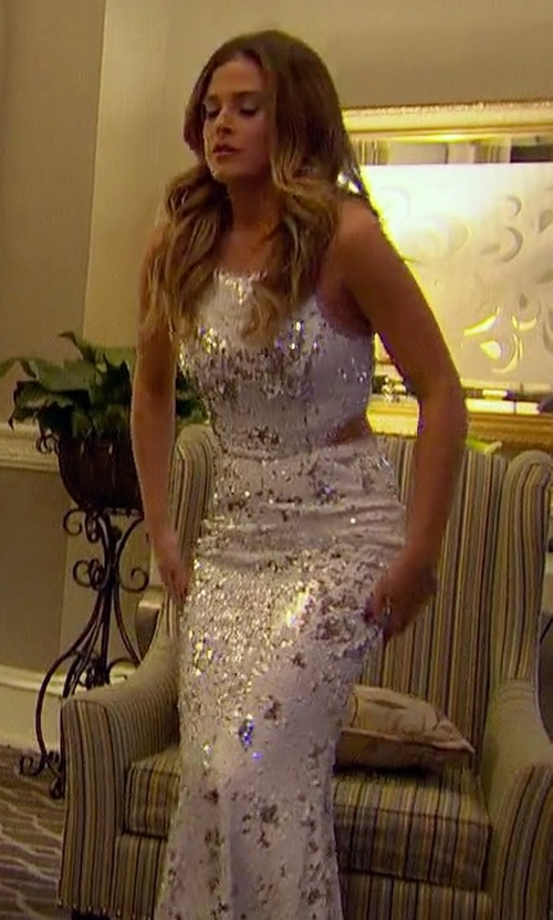 JoJo Fletcher with Jay Godfrey Stanfield Dress in The Bachelorette