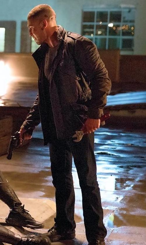 Jon Bernthal with Daniele Alessandrini Homme Straight Leg Denim Pants in Daredevil