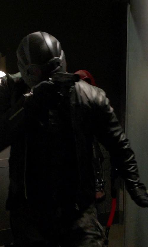 David Ramsey with Maya Mani (Costume Designer) Custom 'Diggle' Costume in Arrow