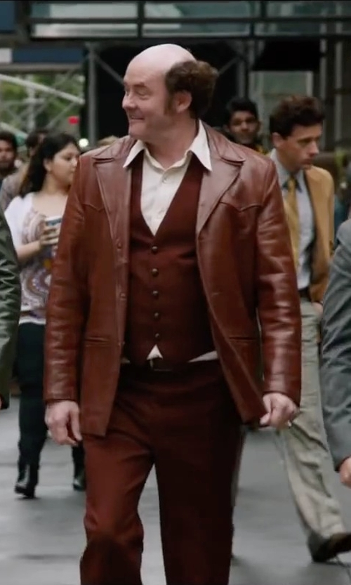 David Koechner with Idarbi Men Solid Formal Tuxedo Vest in Anchorman 2: The Legend Continues