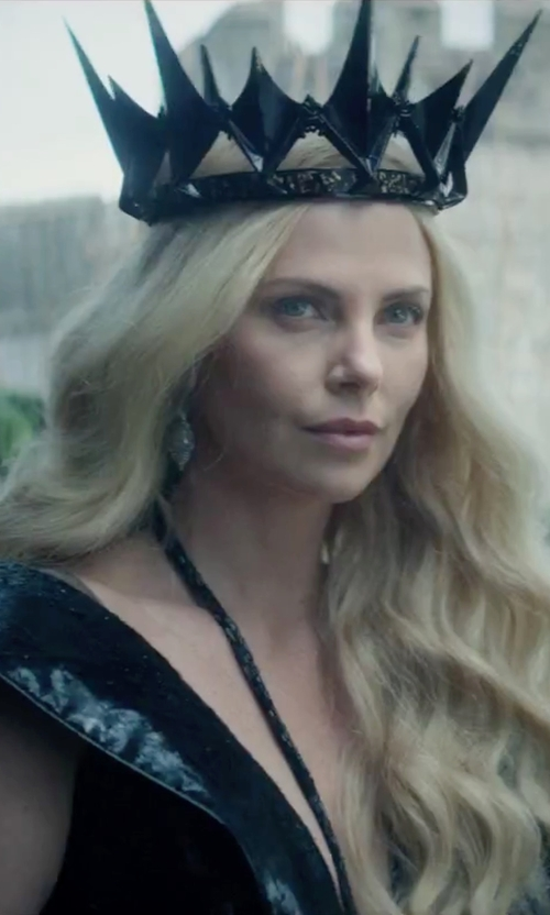 Charlize Theron with Colleen Atwood (Costume Designer) Custom Made 'Ravenna' Black Royal Gown in The Huntsman: Winter's War