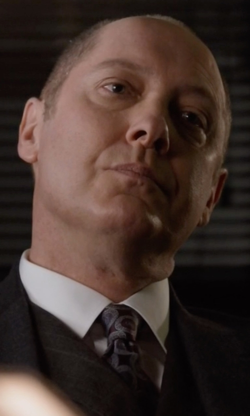 James Spader with Canali Medium Medallion Classic Tie in The Blacklist