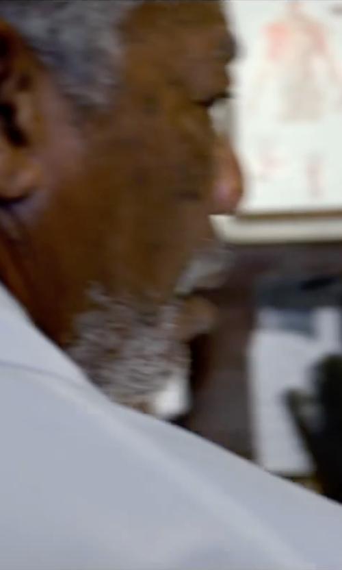 Morgan Freeman with Carhartt Men's Twill 6 Pocket Lab Coat in Lucy