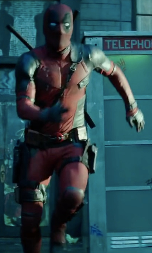 Ryan Reynolds with Angus Strathie (Costume Designer) Custom Made Deadpool Suit (Wade Wilson / Deadpool) in Deadpool 2