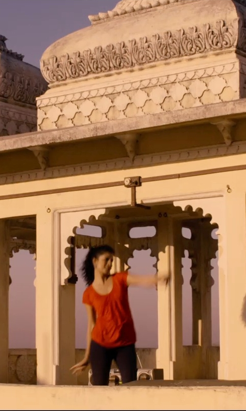 Tena Desae with Lole Amorigue Shirt in The Second Best Exotic Marigold Hotel