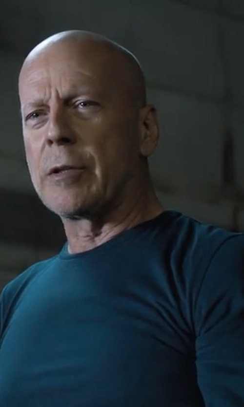 Bruce Willis with Ovadia & Sons Waffle Thermal Long Sleeve Tee in Death Wish