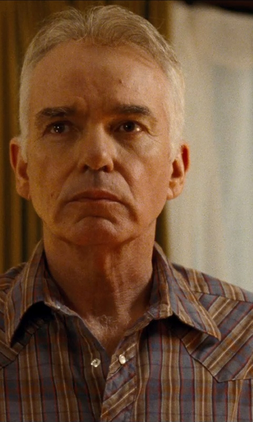 Billy Bob Thornton with Creep By Hiroshi Awai Flannel Plaid Shirt in Cut Bank