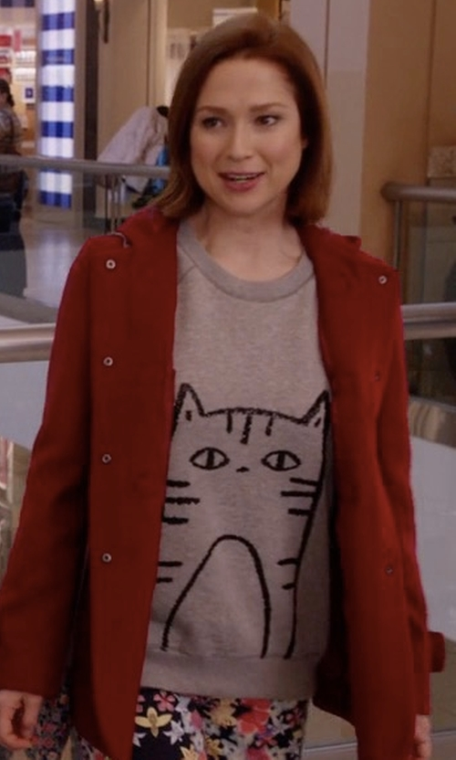 Ellie Kemper with Johnnie B By Boden 'Elle' Sequin Sweatshirt in Unbreakable Kimmy Schmidt