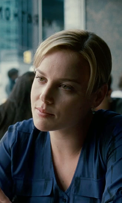 Abbie Cornish with Lauren Ralph Lauren Gold-Tone Stone Double Drop Earrings in Limitless