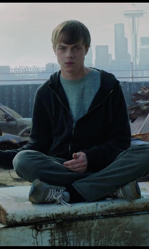 Dane DeHaan with T by Alexander Wang Classic T-Shirt in Chronicle