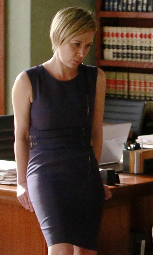 Liza Weil with Michael Kors Collection  Sleeveless Bateau-Neck Sheath Dress in How To Get Away With Murder