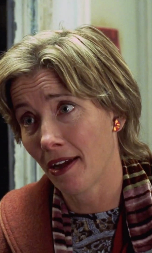 Emma Thompson with Sonia Rykiel Striped Knit Scarf in Love Actually