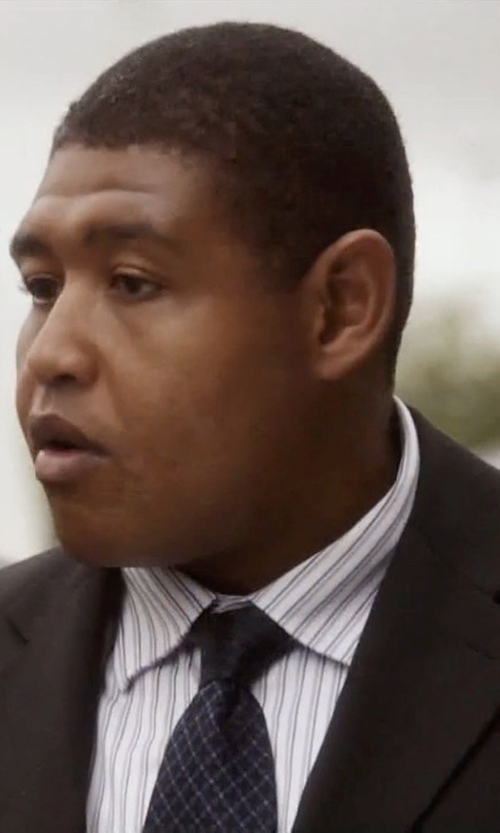 Omar Benson Miller with Tommy Hilfiger Silk Tie Micro Check Print in Ballers