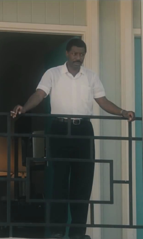 No Actor with Izod Men's Short Sleeve Linen Cotton Button-Down Woven Shirt in Lee Daniels' The Butler