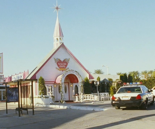 Unknown Actor with 1301 S Las Vegas Blvd Car Park (Depicted as Best Little Wedding Chapel) Las Vegas, Nevada in The Hangover
