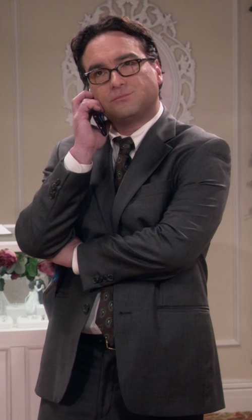 Johnny Galecki with Tagliatore Formal Suit in The Big Bang Theory