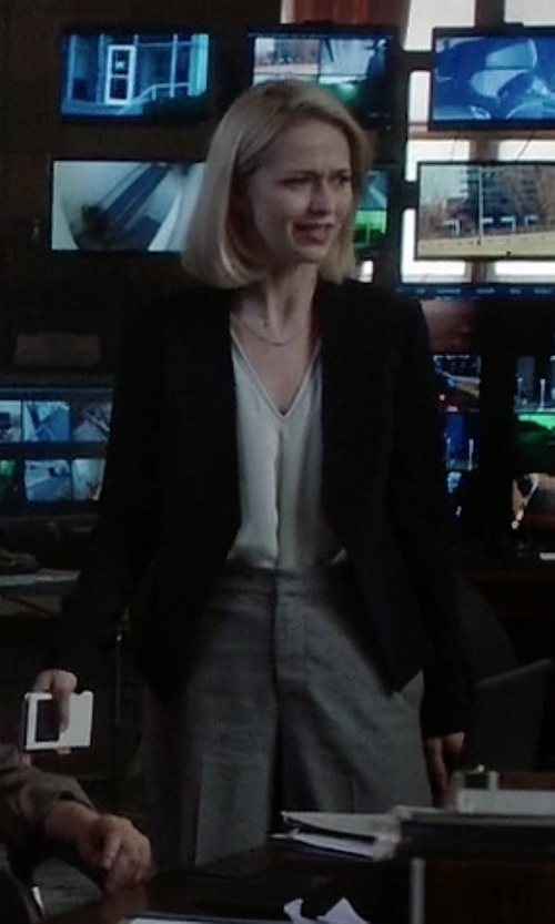 Johanna Braddy with J.Crew Factory Suiting Pants in Quantico
