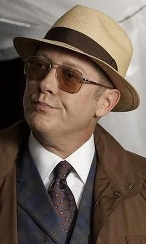 James Spader with Ted Baker London 'Circle Spokes' Silk Tie in The Blacklist
