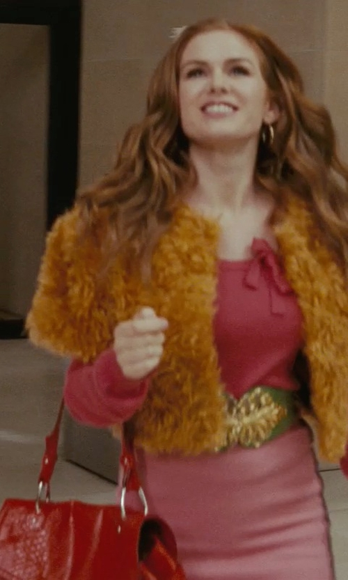 Isla Fisher with Miu Miu Red Handbag in Confessions of a Shopaholic
