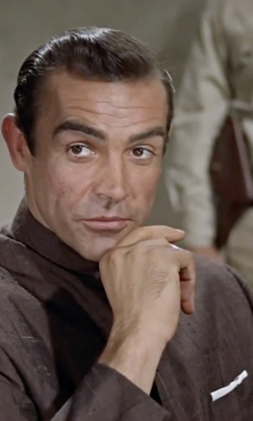Sean Connery with Massimo Alba Mandarin Collar Shirt in Dr. No