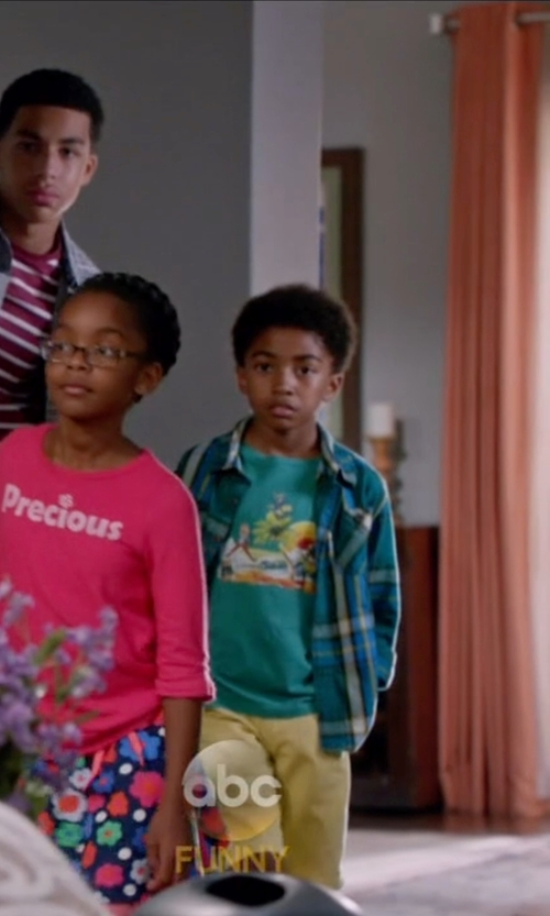 Miles Brown with Ralph Lauren Printed T-Shirt in Black-ish