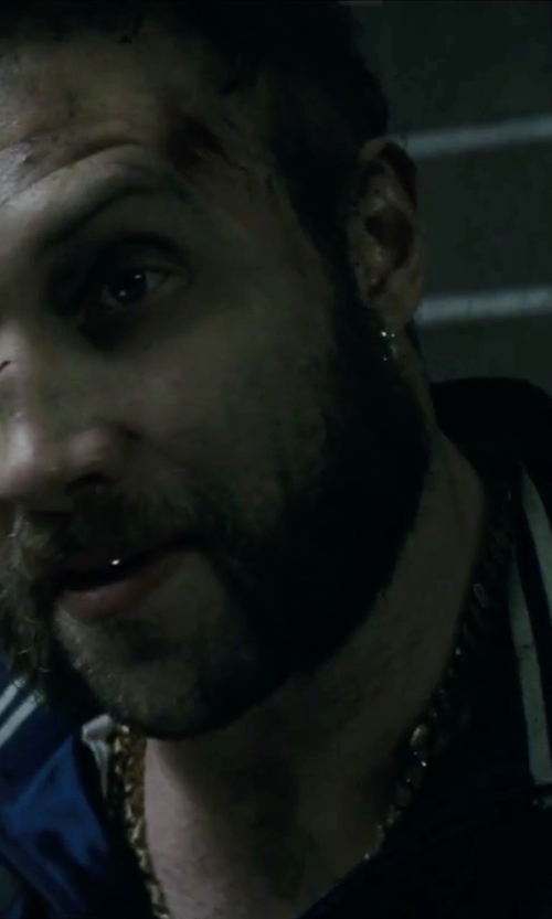 Jai Courtney with Avianne & Co. Mens Miami Cuban Chain Necklace in Suicide Squad
