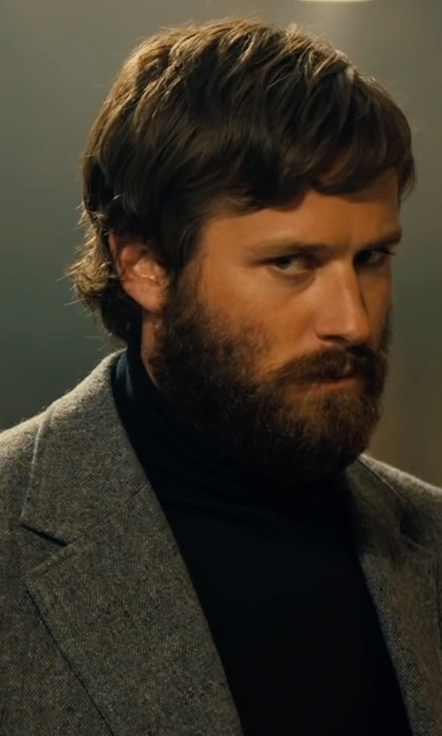 Armie Hammer with Michael Kors Merino Turtleneck Sweater in Free Fire