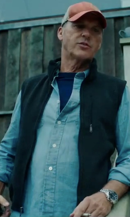 Michael Keaton with Peter Millar Bend Performance Stretch Vest in American Assassin