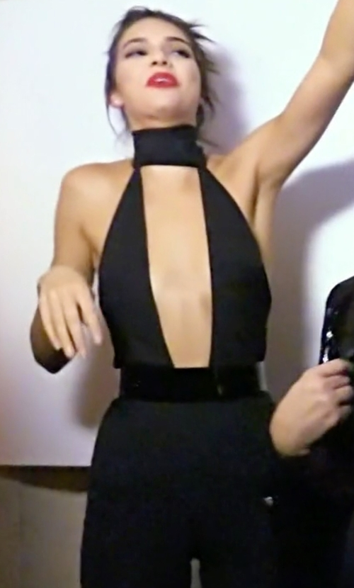 Kendall Jenner with Halston Heritage Embellished Stretch-Crepe Jumpsuit in Keeping Up With The Kardashians