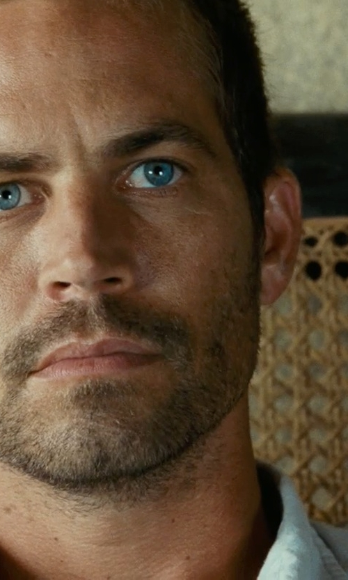 Paul Walker with NLST Cotton Twill Officer's Shirt in Fast Five