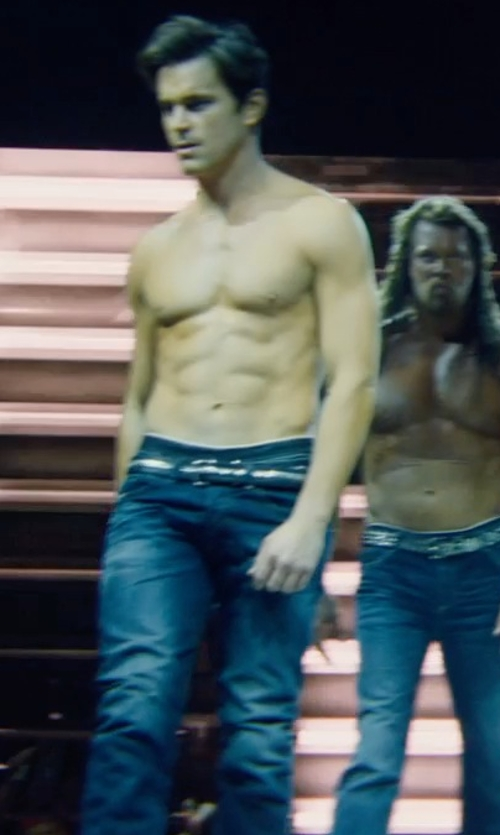 Matt Bomer with Ali Express Genuine Leather Punk Metal Belt in Magic Mike XXL