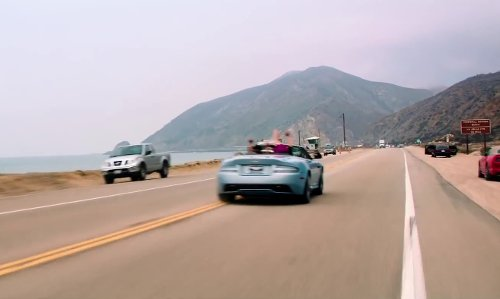 Zach Braff with Pacific Coast Highway Malibu, California in Wish I Was Here