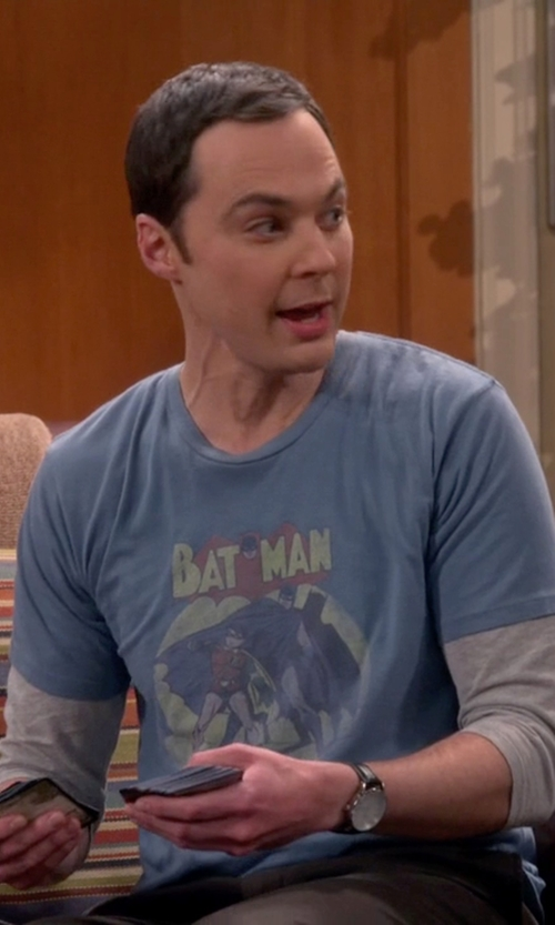 Jim Parsons with Bulova Genuine Leather Band Watch in The Big Bang Theory