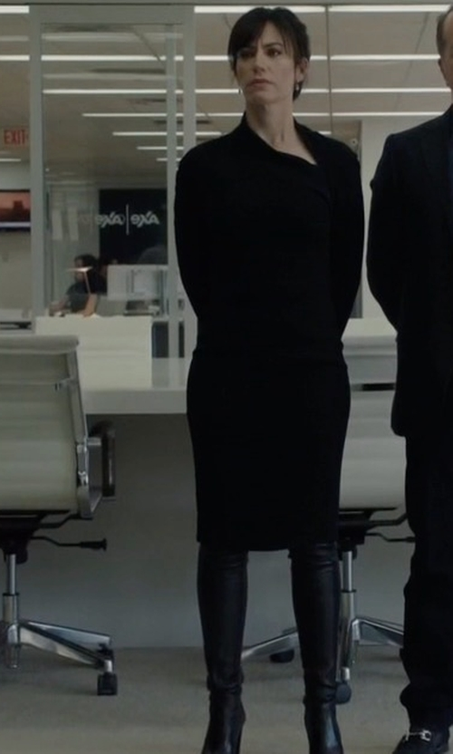 Maggie Siff with Stuart Weitzman Highland Leather Over-The-Knee Boots in Billions