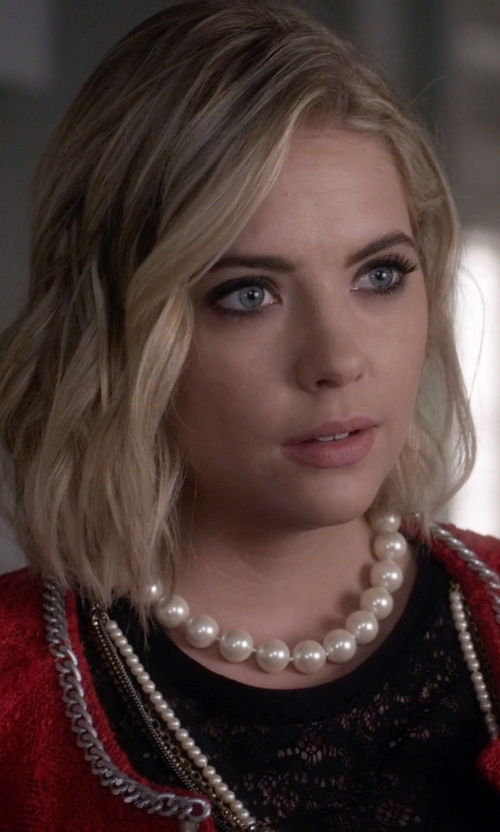 Ashley Benson with Nina 'Indra' Shell Pearl Choker Necklace in Pretty Little Liars