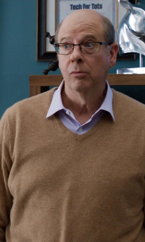 Stephen Tobolowsky with Barneys New York Cashmere V-Neck Sweater in Silicon Valley